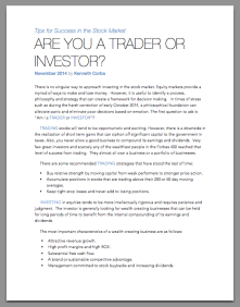 Are you a Trader or Investor?